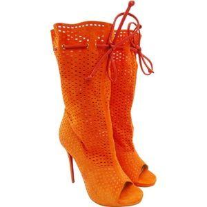 "CHRISTIAN LOUBOUTIN ""Jennifer 120"" in Orange"